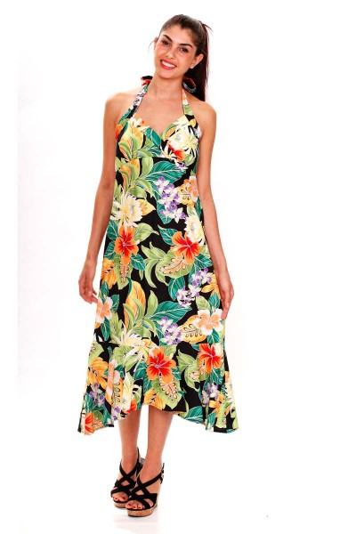 Pacific Legend | Original Hawaiikleid | Damen | S - XXL | Sommer | Blumen | Mehrere Farbvarianten-Co